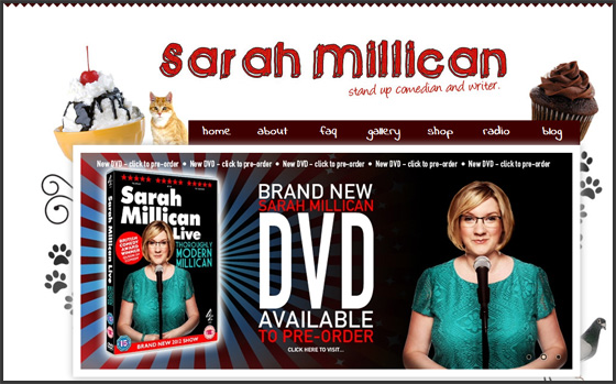 Sarah Millican Website, Designed By Bring Digital