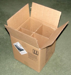 Cardboard box origami