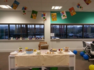 Children in Need bake sale at Bring Digital