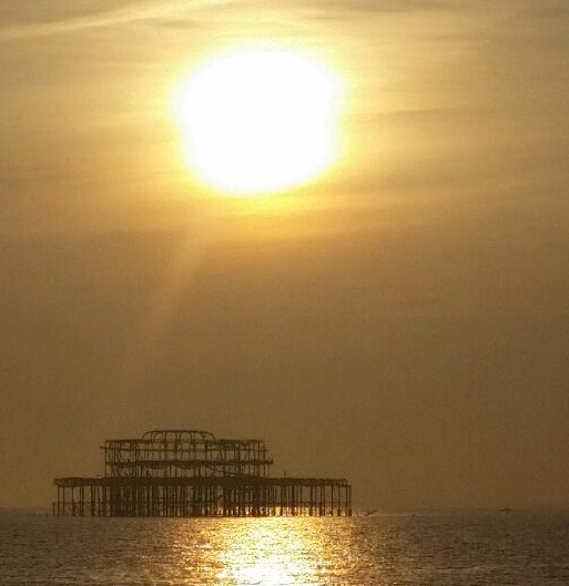 The sun goes down on Brighton
