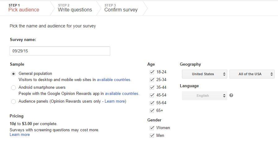 goole surveys image