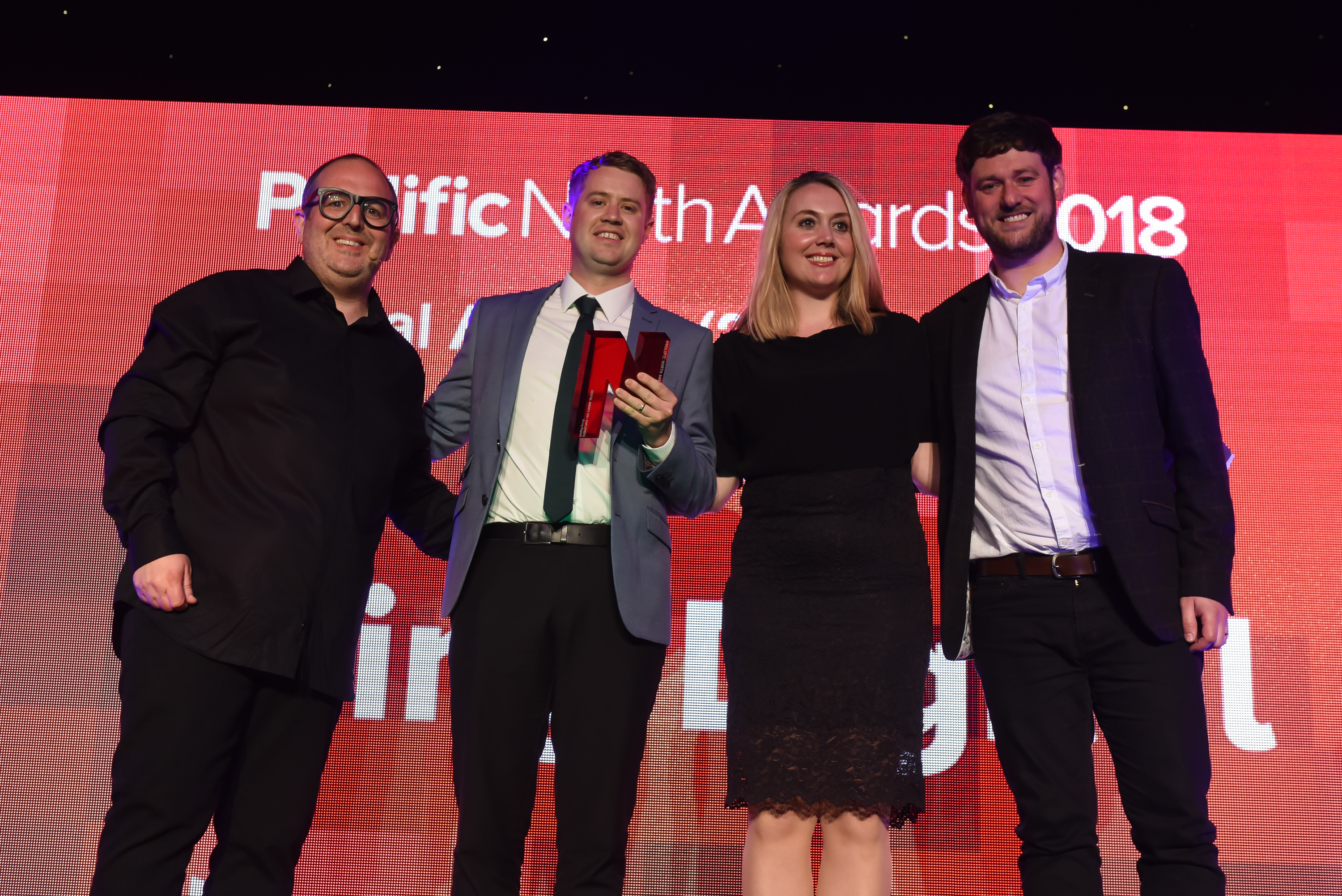 Bring Digital accepting the award for Best Large Digital Agency at Prolific North 2018
