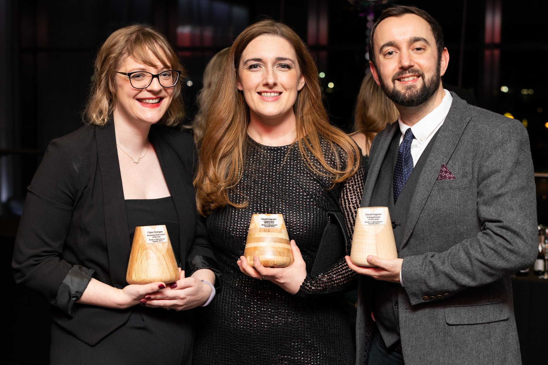David Ingram of Bring Digital wins two awards at the Made in Manchester Awards